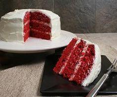 Red Velvet Cake with Vanilla Frosting
