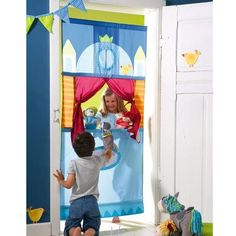 HABA doorway puppet theater | coolest birthday gifts for 4 year olds