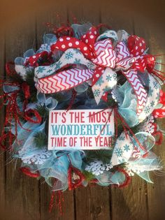 Wonderful time of the year wreath