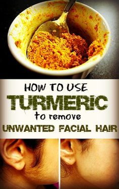 how to remove facial hair using turmeric