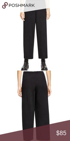 fb77ce01d1b09 EOLEEN FISHER Wool Charcoal Straight Leg Pants Size LARGE Regular sizing   XS 2-
