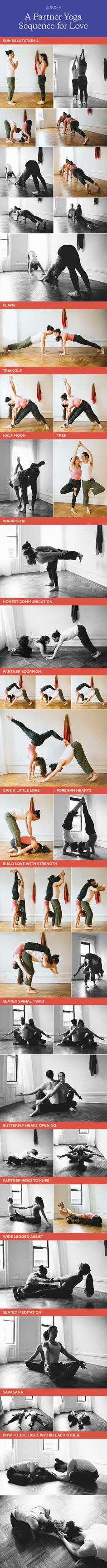 Explore this beautiful partner yoga sequence of heart opening and strengthening postures to experience the joy of a loving support in the yoga practice.