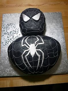 black spiderman cake as requested by Mr. Brady Begeman... I'm going to be busy!