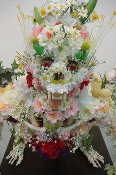 Insanely Creepy Flower Encrusted Skeletons