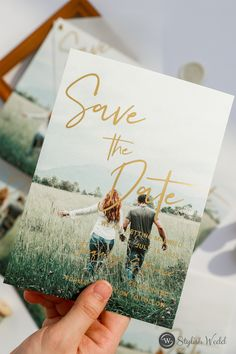 Simple digital printing save the date card with custom photo #weddingideas#weddinginvitations#stylishwedd #stylishweddinvitations #weddingstationery#springwedding#summerwedding#2021wedding