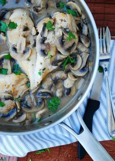 The sauce really is the star of the recipe, but the moist chicken and tender mushrooms that swim in it are a close second. A quick, one pan meal that still looks and tastes elegant. Get the recipe here: 30 Minute Chicken & Mushroom Marsala Recipes With Coconut Cream, Coconut Recipes, Cream Recipes, Dairy Free Recipes, Gluten Free, Chicken Mushroom Marsala, Moist Chicken, One Pan Meals, Food Allergies