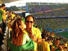 Dia dos namorados e eu estava lá com o meu amor! #cariocadna #worldcup2014 #copa2014 #Brasil2014 #soccer #futebol #vaitercopa