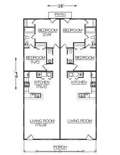 Floor Plan Hotel Narrow 2 Bedroom Apartment 2020 Ev Planlari Evler Dekorasyon
