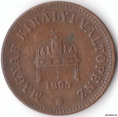 A vintage 1894 Extra Fine 2 Filler Coin from Hungary