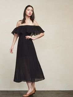 Oh don't mind me I'm just the drapes. The Femme Dress. https://www.thereformation.com/products/femme-dress-black?utm_source=pinterest&utm_medium=organic&utm_campaign=PinterestOwnedPins