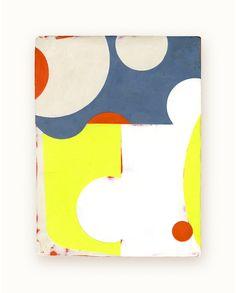 23 / Blazon Series, variation 02 / 2014 / encaustic & alkyd on wood panel / 8 x 6 inches