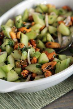Light Thai Cucumber Salad with Sahale Snacks Sing Buri