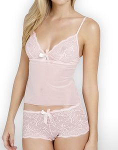 rose pink camisole & underwear set $40