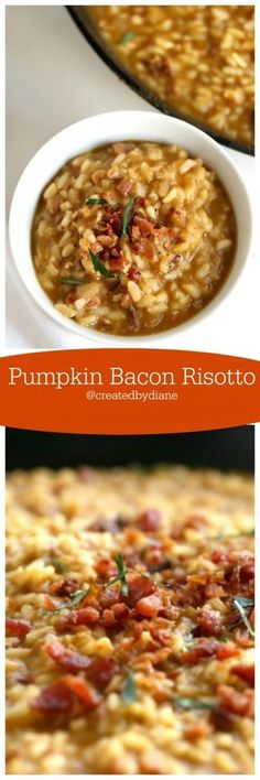 Pumpkin Bacon Risotto from @createdbydiane