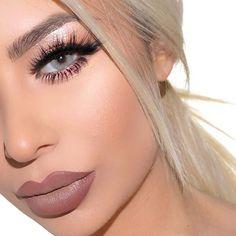 @vanitymakeup #hudabeauty lashes in Scarlett ❤️ #tarte Tartellete palette #anastasiabeverlyhills taupe brow definer Lips: Mac plum lip liner with #jeffreestarcosmetics posh spice Follow my studio page @vanitymakeup.studio ™@vanitymakeup