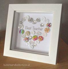 Best Teacher Button Picture / Print End of by ButtonsandBobbinsUK