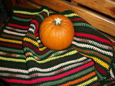 Autumn Stripes Wheelchair Lapghan