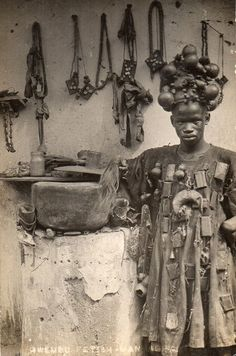Medicine Man from Ghana, Africa (1898) [509x768]