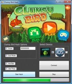 Maladroit Oiseau Hack http://gamesfixer.com/clumsy-bird-hack/