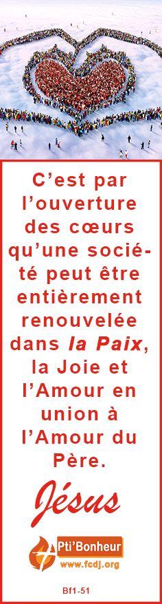 Paix pour la France, Paix pour le monde, Paix pour les cœurs