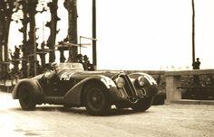 Alfa Romeo 8C 2900 B MM Spider Touring. Winner of 1938 Mille Miglia. Driven by Clemente Biondetti and Aldo Stefani.