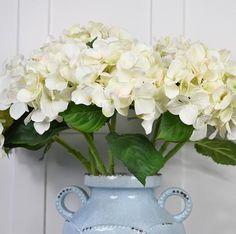 Abigail Ahern Flowers: Faux White Hydrangeas