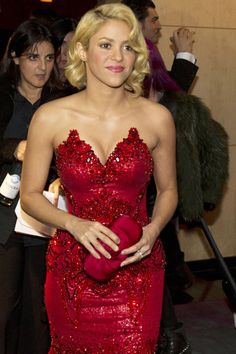 Lady in red! Shakira at FIFA Gala