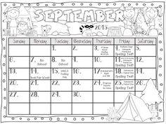 FREE 2016-2017 Clip Chart Behavior Calendars in English an