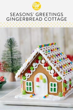 gingerbread house template Made using only three ingredients, this easy royal icing recipe is great for outlining and flooding sugar cookies, decorating gingerbread houses, a Homemade Gingerbread House, Gingerbread House Template, Cool Gingerbread Houses, Gingerbread House Designs, Gingerbread House Parties, Gingerbread Decorations, Royal Icing Decorations, Christmas Gingerbread House, Ginger Bread House Diy