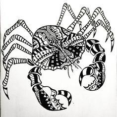 #art #artwork #sharpieart #molotow #molotowmarkers #crab #crabart #ornate #blackandwhite #design #designart #painting #canvaspainting #canvas #artist #fridaynight #artnights #viccity @kellyholemaker Crab Art, Sharpie Art, Crabs, Yachts, Markers, Design Art, Photo And Video, Canvas, Artist