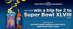 Enter Pepsi Super Bowl XLVIII Trip Sweepstakes at Meijer Sweepstakes and you could win a trip for two to Super Bowl XLVIII! The prize includes flights and accommodation for you and a friend plus $3,500 spending money!