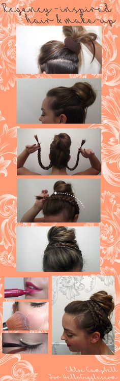 Jane Austen-inspired, Regency era style hair and make-up tutorial! Find it at HelloGiggles.com!