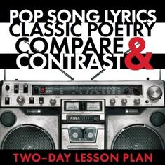 Use this two-day poetry lesson to help your students connect modern music/song lyrics to classic poetry. Teaching Poetry, Teaching Time, Teaching Language Arts, Pop Song Lyrics, Classic Poems, Similes And Metaphors, Poetry Lessons, Robert Burns, Instructional Coaching