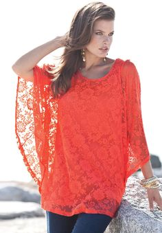 Plus Size Clothing - Fashion for Plus Size women at Roaman's. Love the pink/orange coral