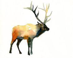 ELK 7X5 print -Kid's Wall Art -Nursery decor- Playroom Decor-Nursery wall art-yellowstone animal