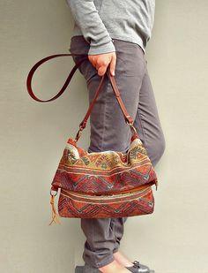 Last One Available - Crossbody Purse - Messenger Bag Aztec -  Converts to Tote - Southwest Aztec Tribal (no4). via Etsy.