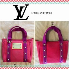 Authentic Louis Vuitton Antigua Pm bag Preowned condition. Shows minor wear and some very light stains in front & corners/edges. Clean interior. Super cute everyday bag. Light red canvas. Louis Vuitton Bags Totes