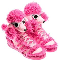 Find Adidas Jeremy Scott Pink Poodle online or in Airyeezyshoes. Shop Top Brands and the latest styles Adidas Jeremy Scott Pink Poodle at Airyeezyshoes. Pink Adidas, Adidas Shoes, Crazy Shoes, Me Too Shoes, Weird Shoes, Adidas Originals, Jeremy Scott Adidas, Funny Shoes, Look Rose