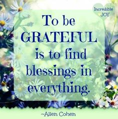 To be Grateful is to find Blessings in everything ~❤~