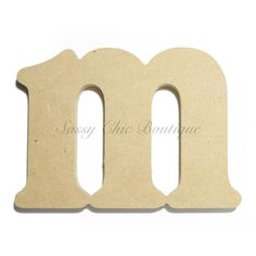 unfinished wooden letter lowercase m victorian font
