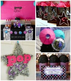 Pop Star themed birthday party via Kara's Party Ideas KarasPartyIdeas.com