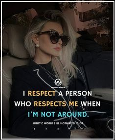 Respect those who Respect you when you are not around -- For More Quotes Follow @idiotic.world -- #money #motivation #success #cash #wealth #grind #lifestyle #business #entrepreneur #luxury #moneymaker #work #successful #hardwork #life #hardworkpaysoff #businessman #passion #millionaire #love #networkmarketing #businessowner #motivational #desire #entrepreneurship #stacks #entrepreneurs #smile #idiotic_world #instagood