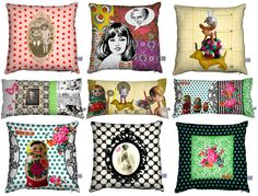 Love these quirky range of cushions by French textile designer, Lucie Dancette...
