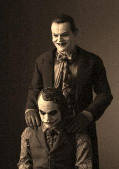 The Joker... and the Joker. well, that's just hauntingly classic!