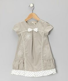 Take a look at this Gray Embroidered Floral Dress - Infant, Toddler & Girls by P'tite Môm on #zulily today!