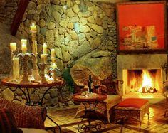 Quinta do Bucanero Guest House: Lareira