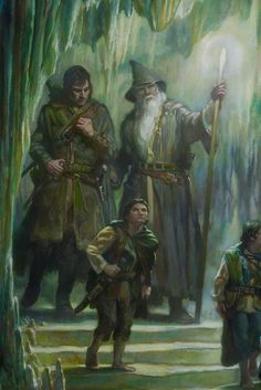 Gandalf Aragorn Samwise  by Donato Giancola