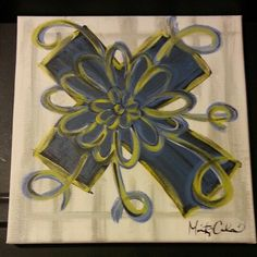Cross canvas painting