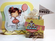 cute card and treat box set - bjl
