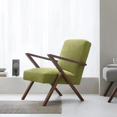 Retro Armchair - Sternzeit Design - Velvet Line in Ice-Grey Luxury Furniture, Home Furniture, Retro Armchair, Upholstery Foam, Modern Colors, Mid Century Style, Upholstered Furniture, Innovation Design, Bauhaus